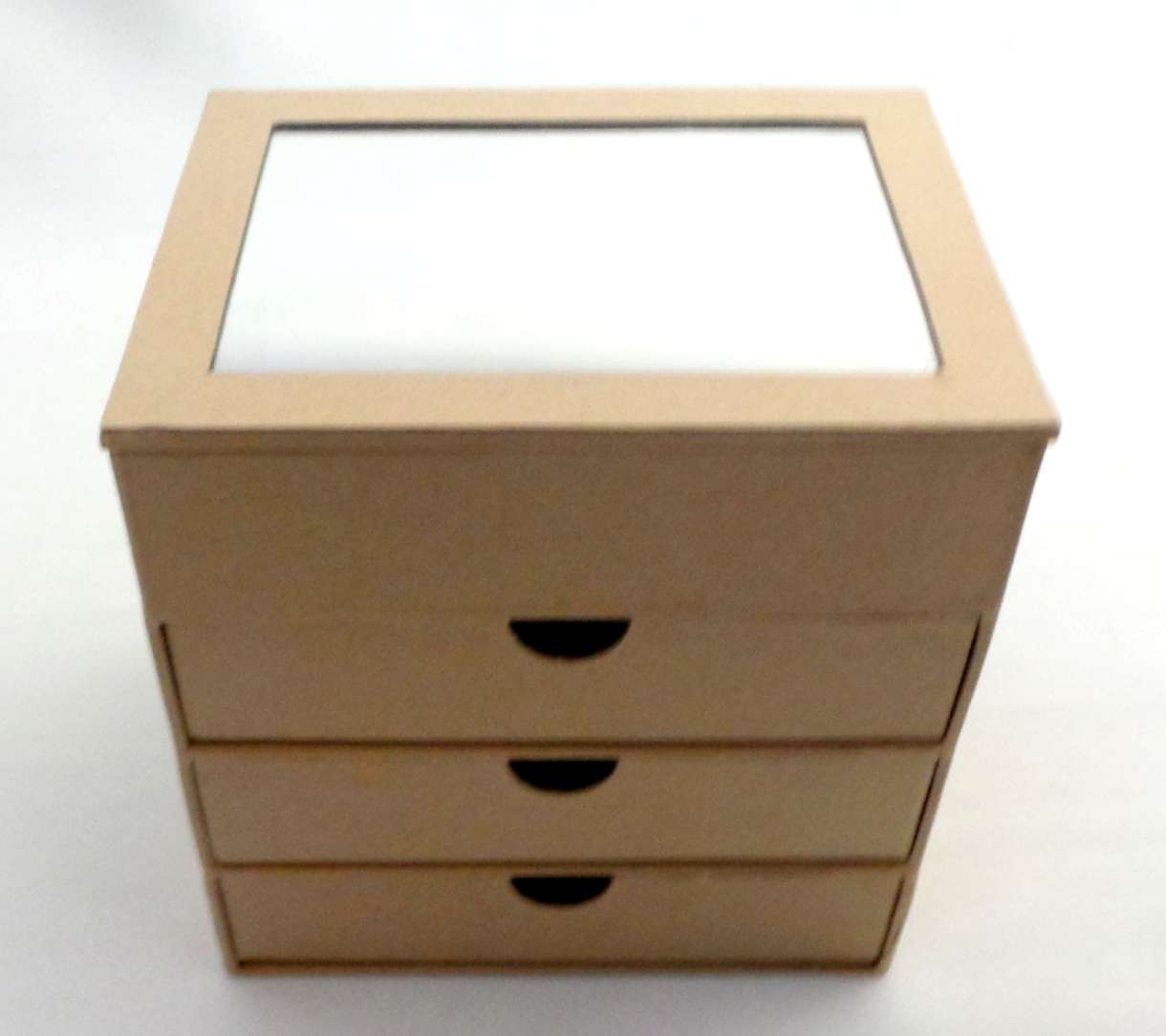 Diy Paper Box 3 Drawer With Mirror Each