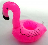 31301008 INFLATABLE GLASSHOLDER FLAMINGO H17CM R156