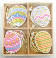 37405311 EASTER WOODEN DECORATIONS 12PCS EACH R703