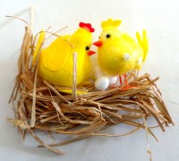 37405410 EASTER CHICKS ON  GRASS EACH R18