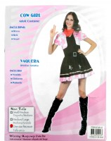 37504243 COSTUME ADULT COW GIRL 96125 EACH R450