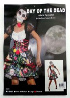 37504908 COSTUME ADULT DAY OF THE DEAD (FEMALE) 0 R395