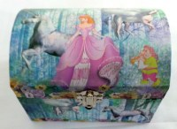 51351212 MUSICAL JEWELERY BOX PRINCESS OVAL EACH R225